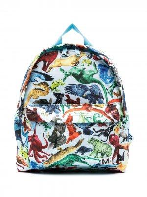 Рюкзак с принтом Molo. Цвет: синий