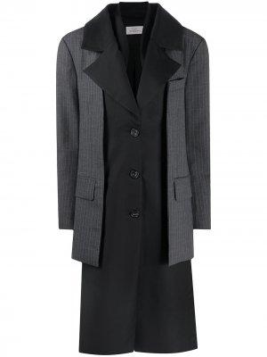 Многослойное пальто Preen By Thornton Bregazzi. Цвет: черный