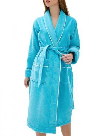 Халат махровый Luisa Moretti. Цвет: голубой