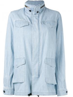 Куртка из ткани шамбре Vis A. Цвет: синий