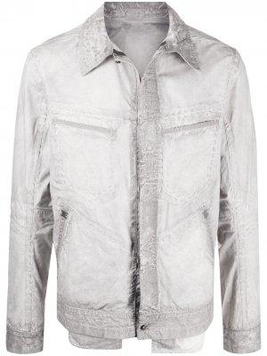 Куртка-рубашка Refractaire с карманами Isaac Sellam Experience. Цвет: серый