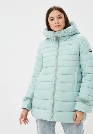 Куртка утепленная Clasna. Цвет: бирюзовый
