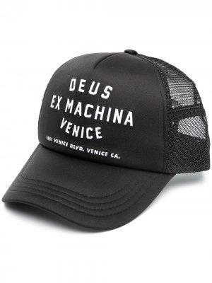 Бейсбольная кепка Venice с вышивкой Deus Ex Machina. Цвет: черный