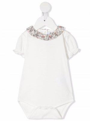 Блузка с короткими рукавами и цветочным принтом Tartine Et Chocolat. Цвет: белый