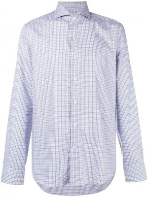 Checked button-down shirt Canali. Цвет: синий