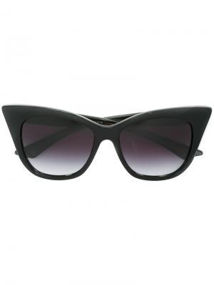 Солнцезащитные очки кошачий глаз Dita Eyewear. Цвет: черный