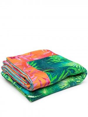 Полотенце с принтом Versace Home. Цвет: зеленый