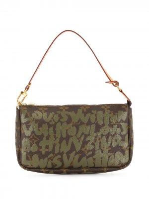 Сумка Graffiti Pochetochete Accessoires 2001-го года Louis Vuitton. Цвет: коричневый