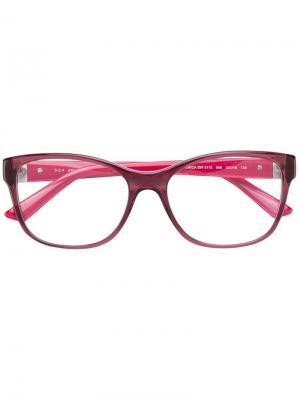 Очки в прямоугольной оправе Swarovski Eyewear. Цвет: розовый