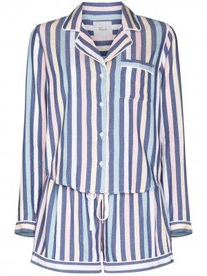 Пижама Kellen в полоску Rails. Цвет: синий