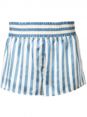 Пижамные шорты Corey в полоску Morgan Lane. Цвет: синий