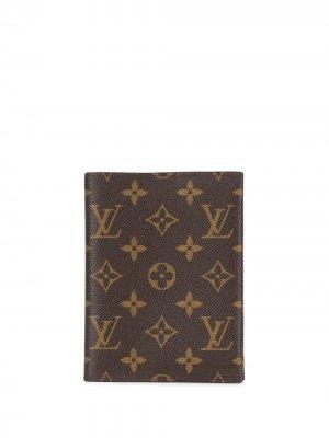 Обложка для блокнота 2014-го года с монограммой Louis Vuitton. Цвет: коричневый