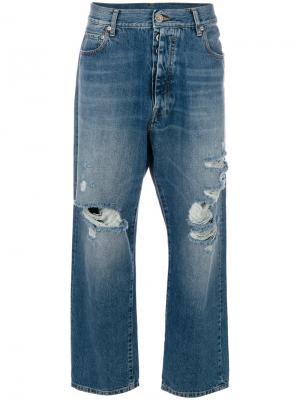 Свободны джинсы-бойфренды Unravel Project. Цвет: синий