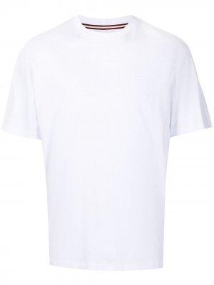 Комплект из трех футболок с вышитым логотипом Bally. Цвет: белый
