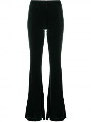 Расклешенные бархатные брюки Antonella Rizza. Цвет: зеленый