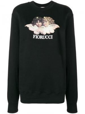 Angels print sweater Fiorucci. Цвет: черный
