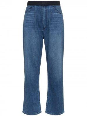 Широкие джинсы средней посадки 3x1. Цвет: синий