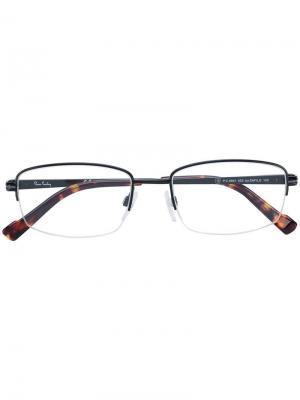 Очки в квадратной оправе Pierre Cardin Eyewear. Цвет: черный