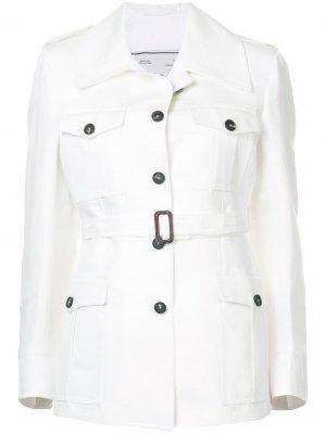 Куртка с поясом Giuliva Heritage. Цвет: белый