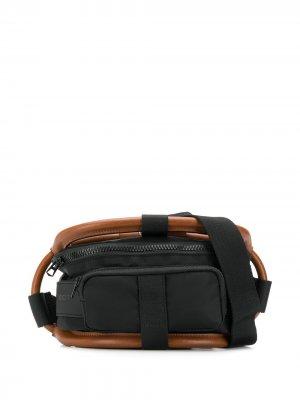 Комбинированная поясная сумка Y/Project. Цвет: черный