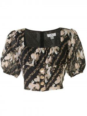 Блузка Bronte с бюстье и принтом пейсли We Are Kindred. Цвет: черный