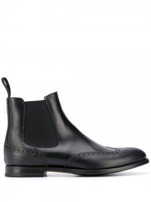Ботинки Oliver с брогированием Scarosso. Цвет: черный