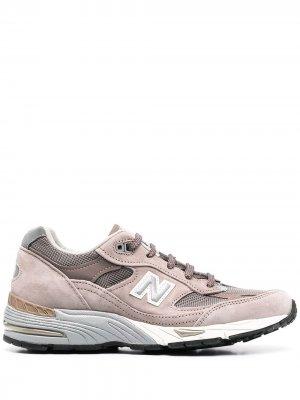 Кроссовки 991 New Balance. Цвет: коричневый