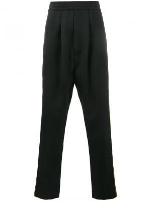 Спортивные брюки с лампасами Haider Ackermann. Цвет: черный