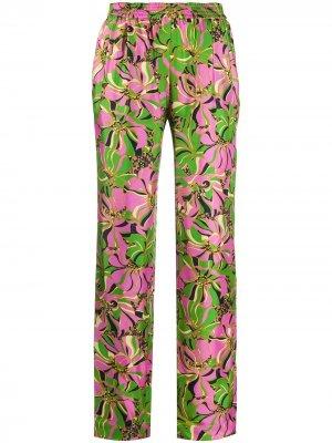 Пижамные брюки La Doublej. Цвет: зеленый