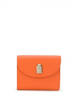 Складной бумажник на кнопке Furla. Цвет: оранжевый