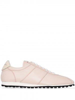 Кроссовки на шнуровке Marni. Цвет: розовый
