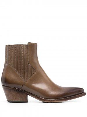 Ботинки челси с заостренным носком Sartore. Цвет: коричневый