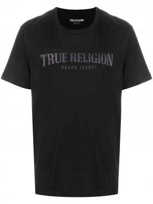 Футболка с логотипом True Religion. Цвет: черный