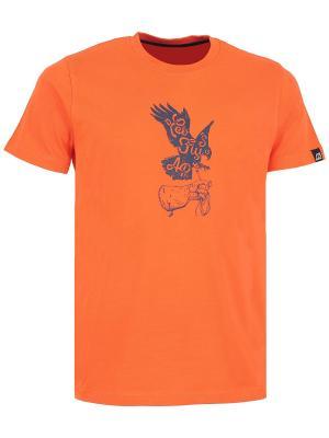 Футболка Alpine PRO. Цвет: оранжевый