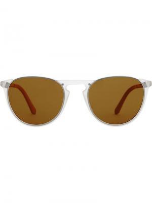 Keyhole Pilot Round Frame Sunglasses Burberry. Цвет: белый