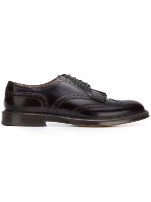 Классические туфли на шнуровке Doucal's. Цвет: красный