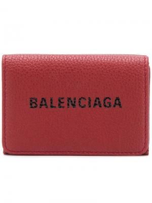 Everyday mini wallet Balenciaga. Цвет: красный
