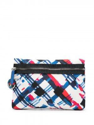 Клатч с графичным принтом Chanel Pre-Owned. Цвет: нейтральные цвета