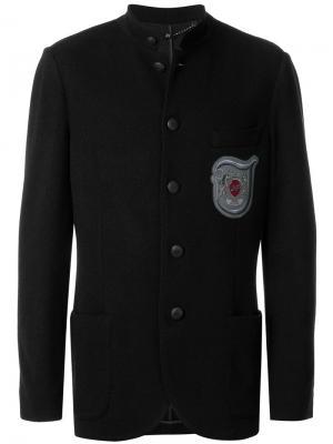 Пиджак с заплаткой логотипом Jo No Fui. Цвет: черный