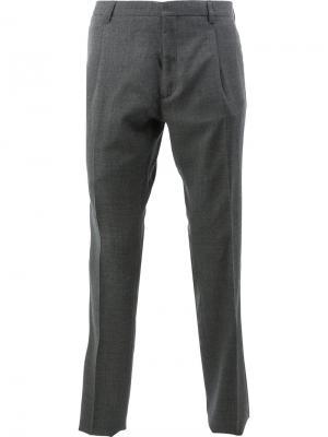 Классические брюки прямого кроя Delada. Цвет: серый