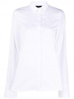 Рубашка с длинными рукавами и широкими манжетами Emporio Armani. Цвет: белый