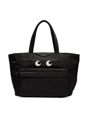 Сумка-тоут Eyes Anya Hindmarch. Цвет: черный
