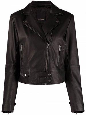 Notched-lapel biker jacket Pinko. Цвет: черный