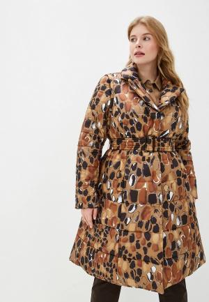Куртка утепленная Persona by Marina Rinaldi. Цвет: коричневый