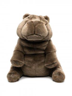 Мягкая игрушка бегемот Edgard La Pelucherie. Цвет: коричневый