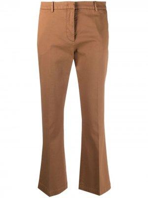 Укороченные брюки со складками Pt01. Цвет: коричневый