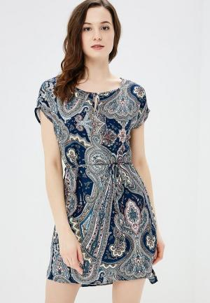 Платье Baon. Цвет: синий