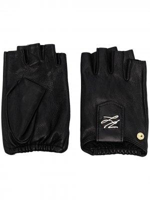 Перчатки-митенки K/Autograph Karl Lagerfeld. Цвет: черный