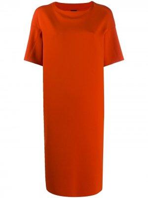 Платье-трапеция с короткими рукавами Aspesi. Цвет: красный