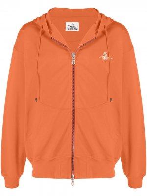 Худи с логотипом Vivienne Westwood. Цвет: оранжевый